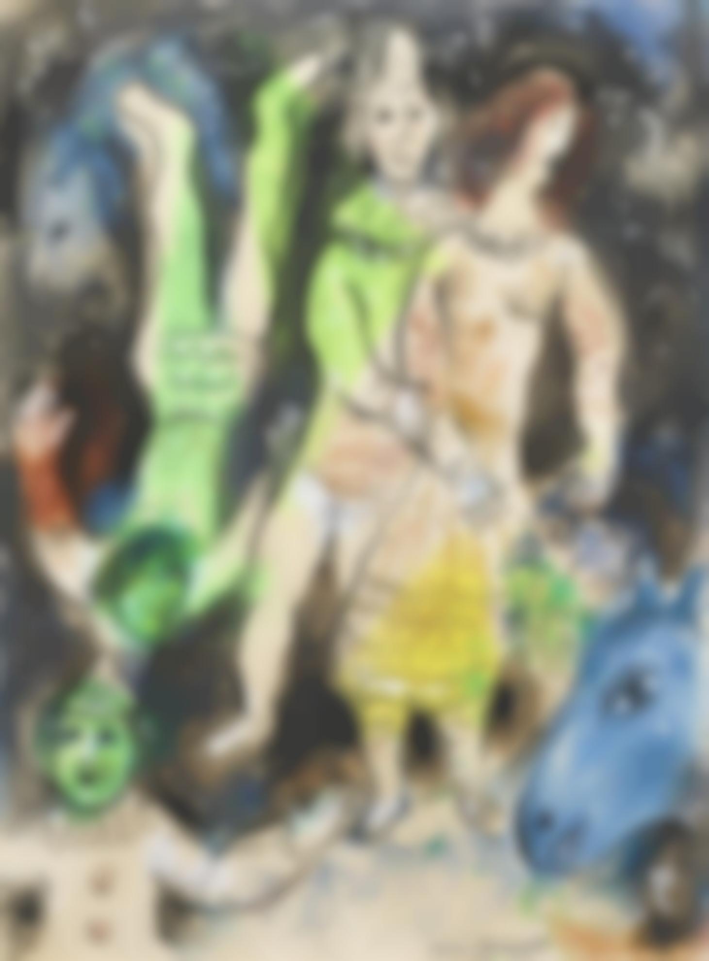 Marc Chagall-Le Clown Amoureux-