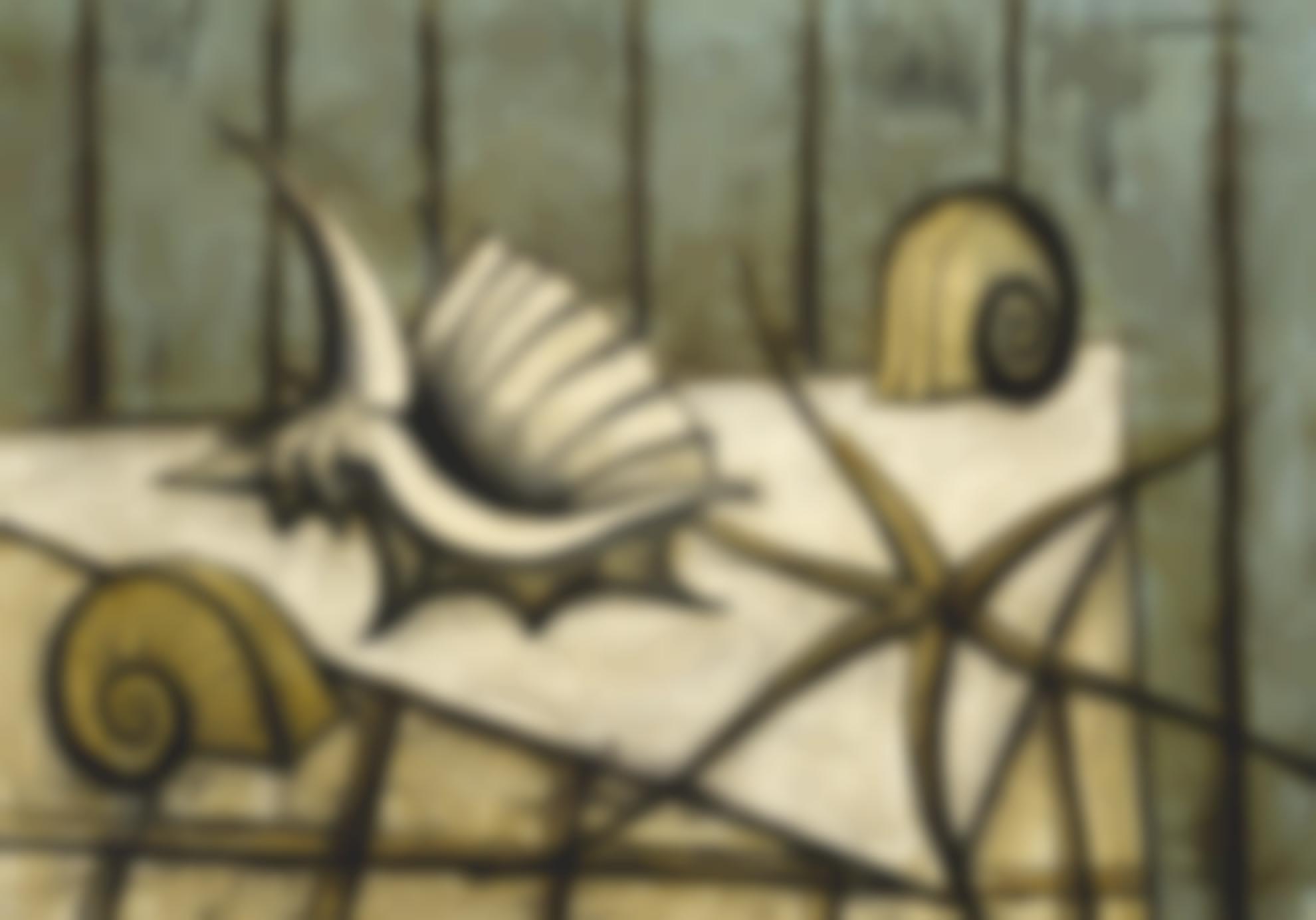 Bernard Buffet-Nature Morte Aux Coquillages-1989
