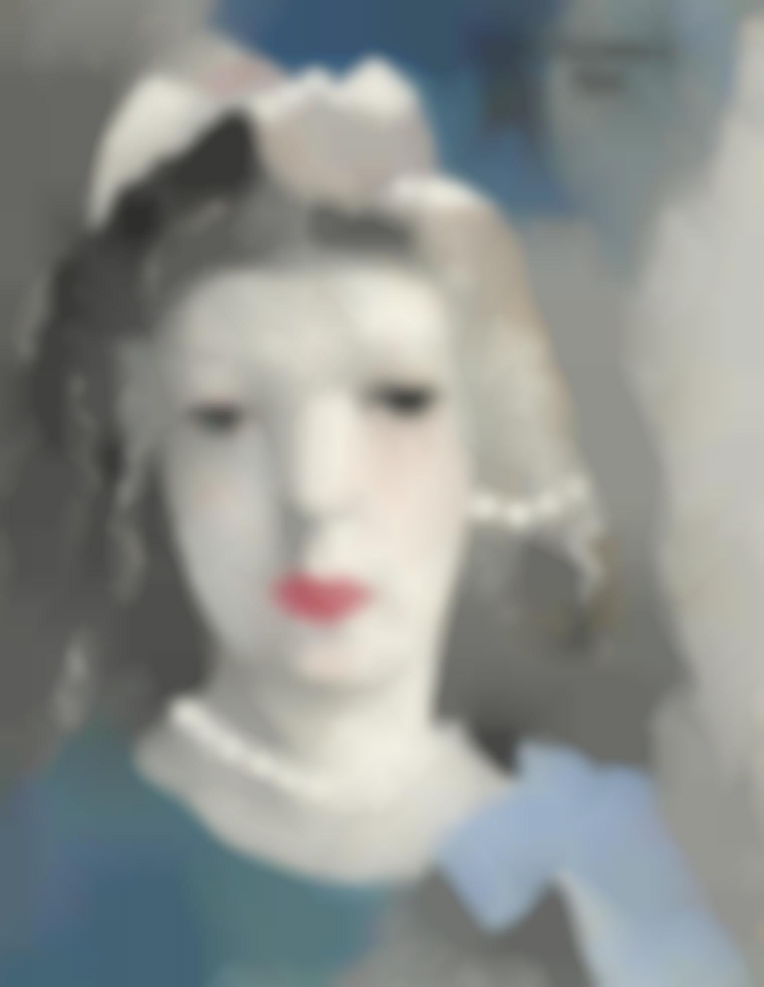 Marie Laurencin-Autoportrait Aux Perles En Bleu-1930
