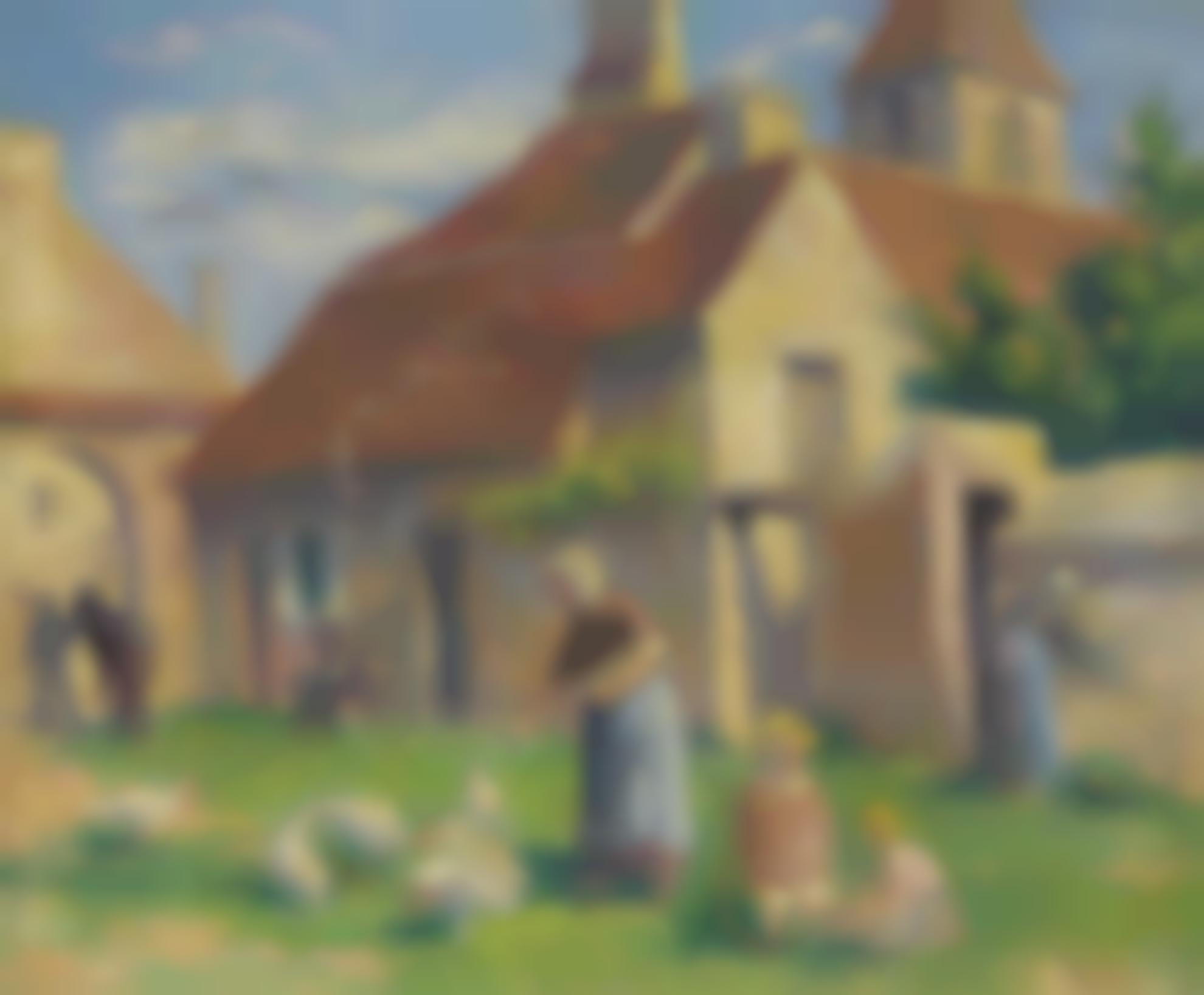 Maximilien Luce-Bessy-Sur-Cure, La Provende Des Poules-1907