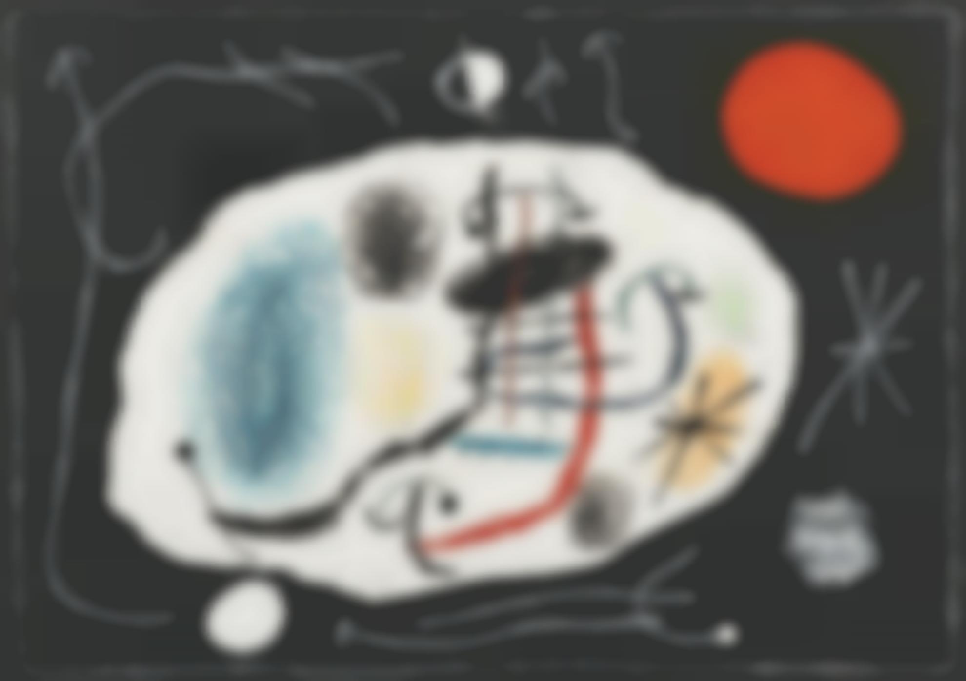 Joan Miro-Le Lezard Aux Plumes Dor (Project For Plate 6)-1965