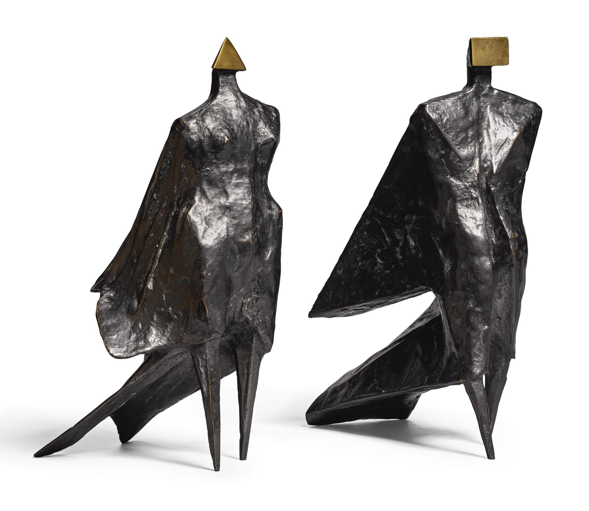 Lynn Chadwick-Pair Of Cloaked Figures IV-1978
