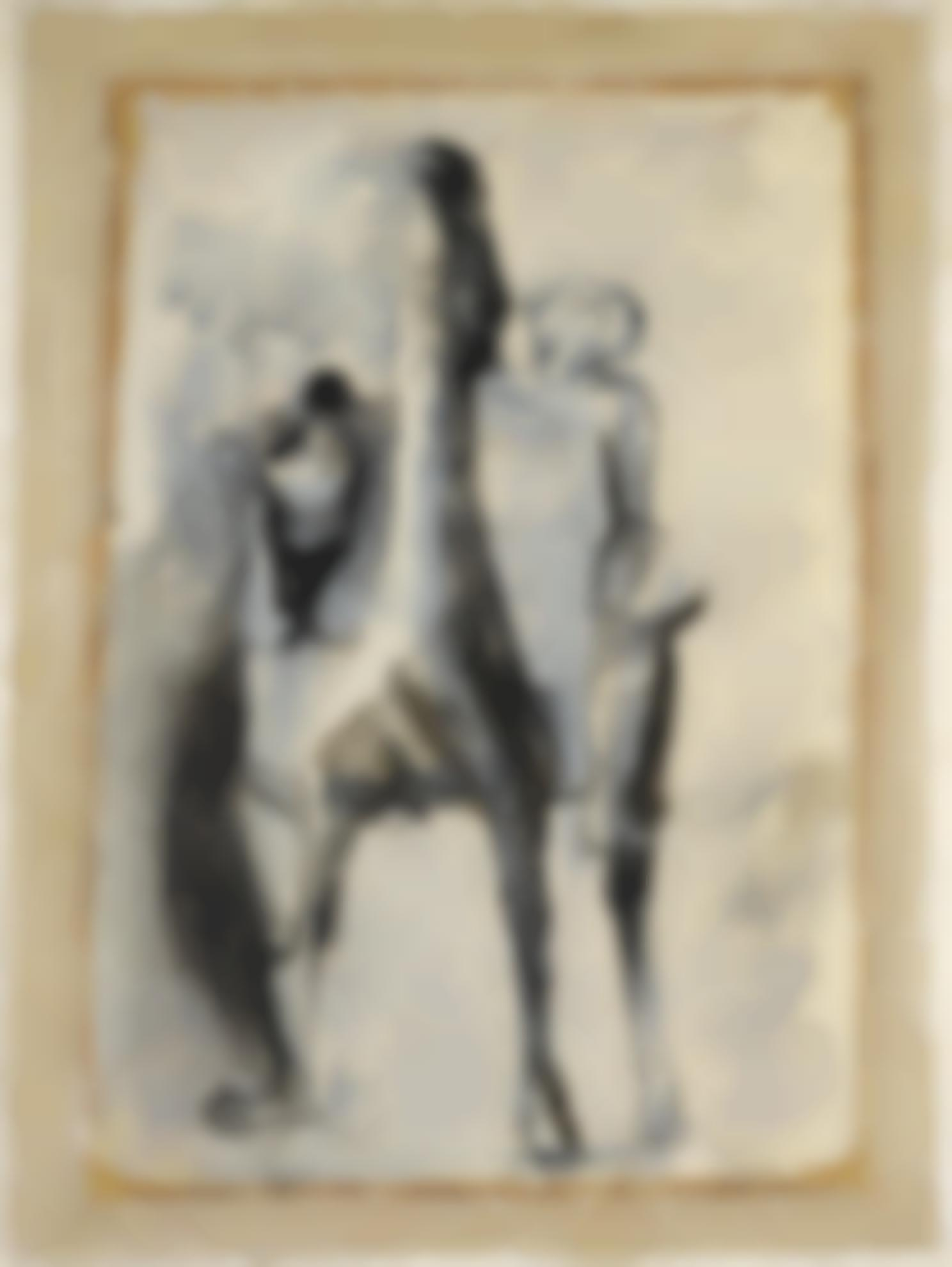 Marino Marini-Cavallo E Giocolieri (Horse And Rider)-1950