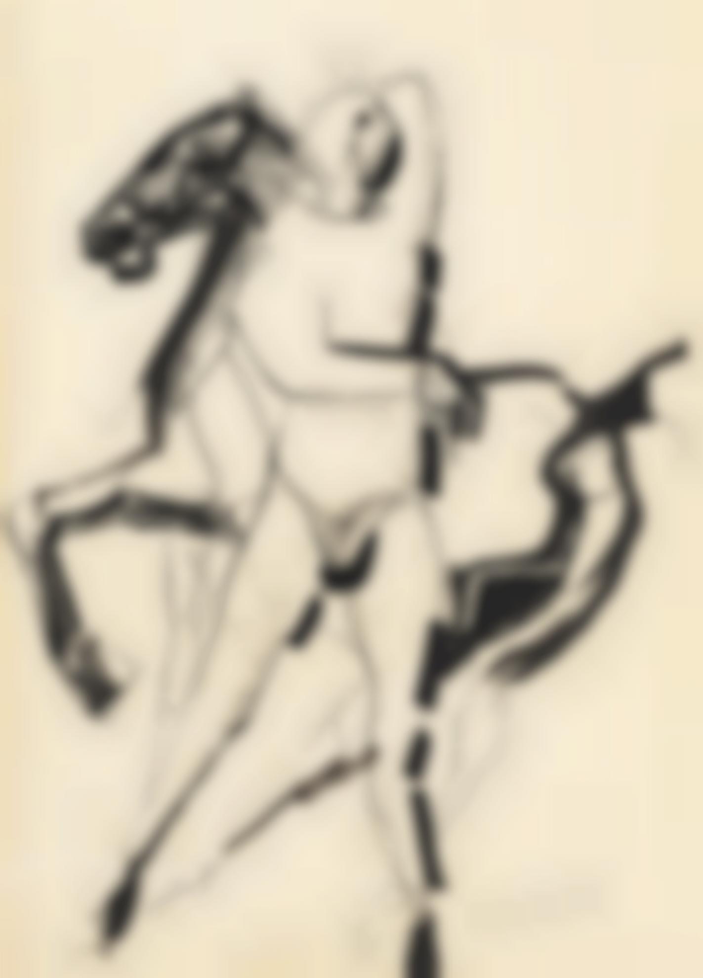 Marino Marini-Giocoliere E Cavallo (Juggler And Horse)-1945
