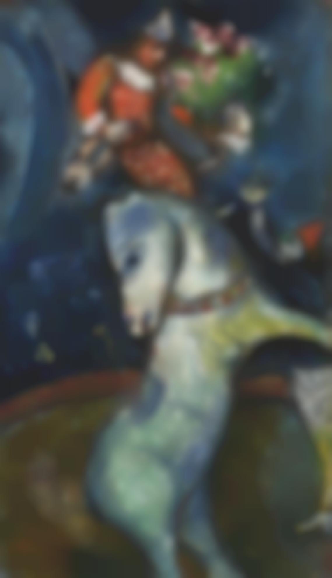 Marc Chagall-Le Cirque, Un Cheval Cabre-1930
