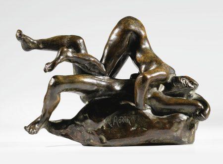 Auguste Rodin-Femmes Damnees, Version Avec Pied Droit De La Femme Superieure Ne Touchant Pas Le Genou Gauche De La Femme Couchee-1977