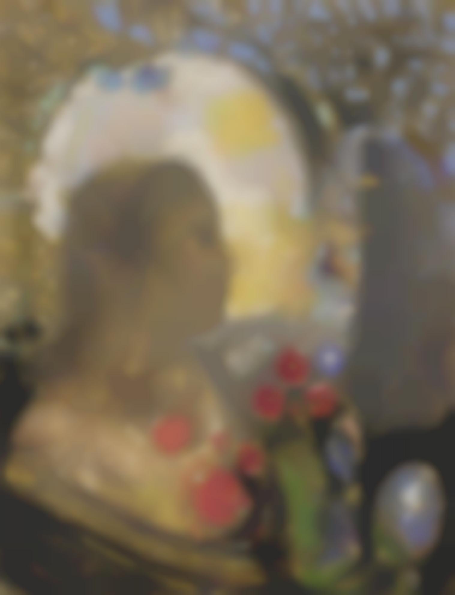 Odilon Redon-Fecondite: Femme Dans Les Fleurs-