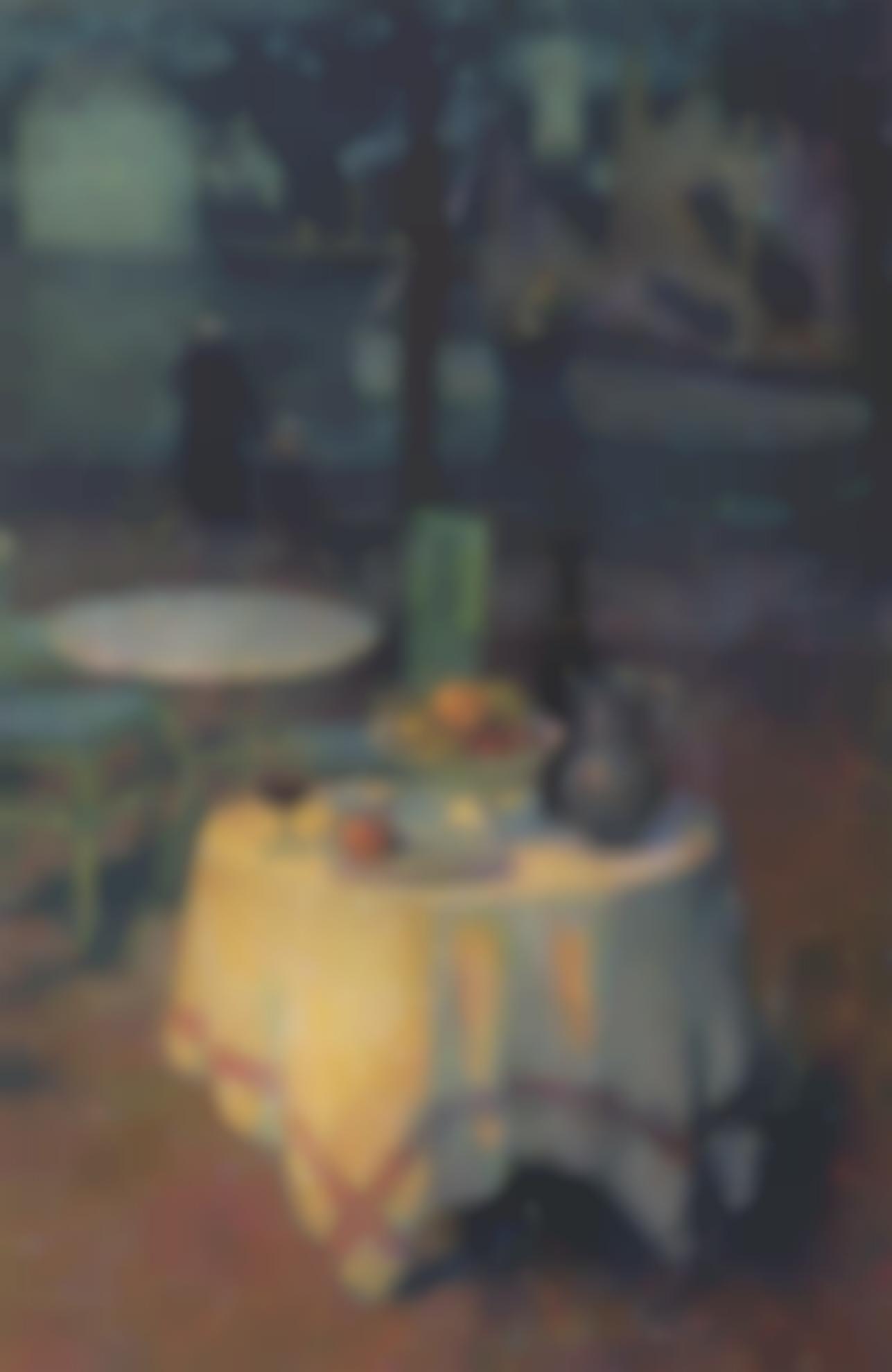 Henri Eugene Le Sidaner-Le Cafe Du Port, Le Croisic-1923