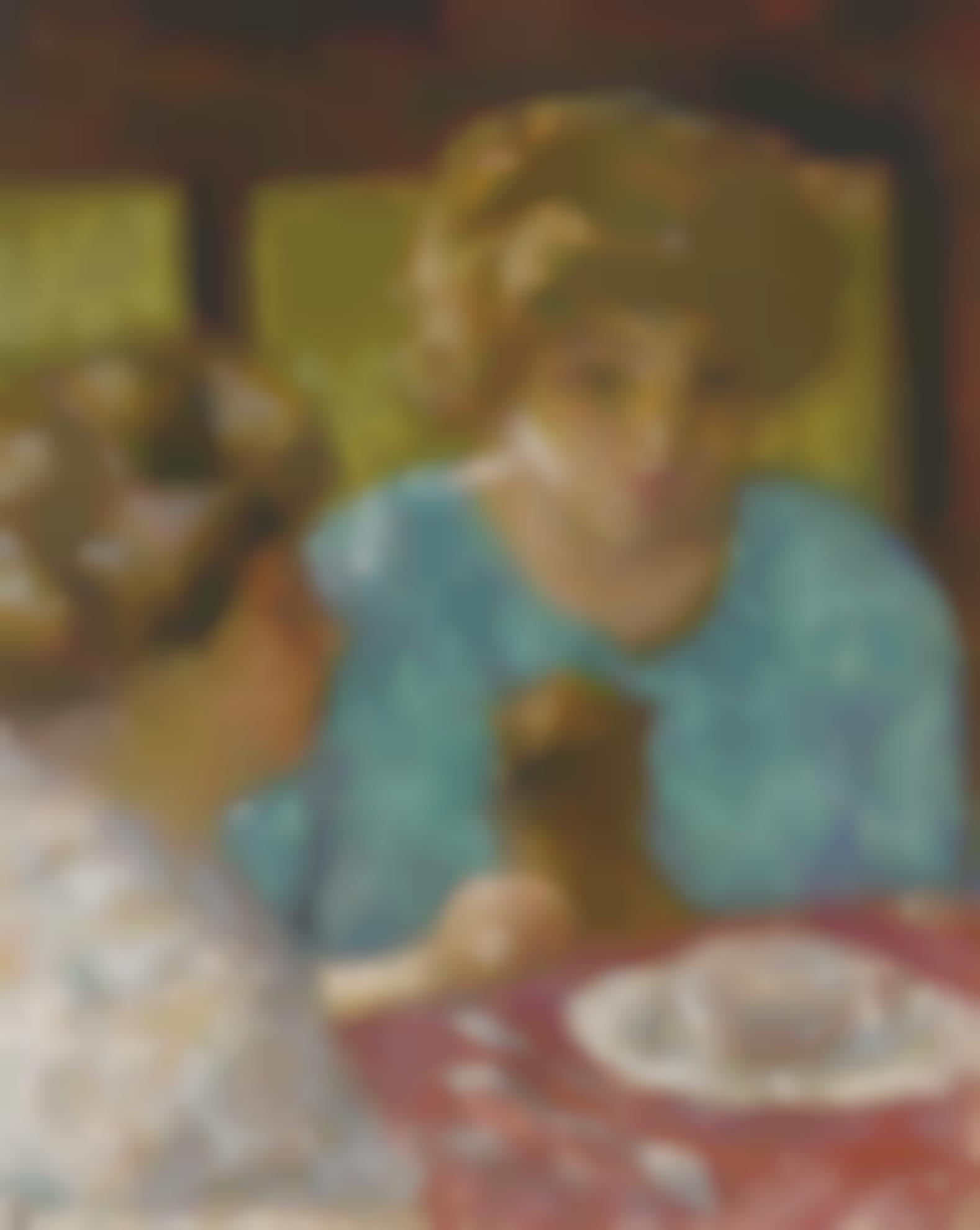 Pierre Bonnard-Deux Dames Avec Chat A Table (Les Deux Soeurs)-1906
