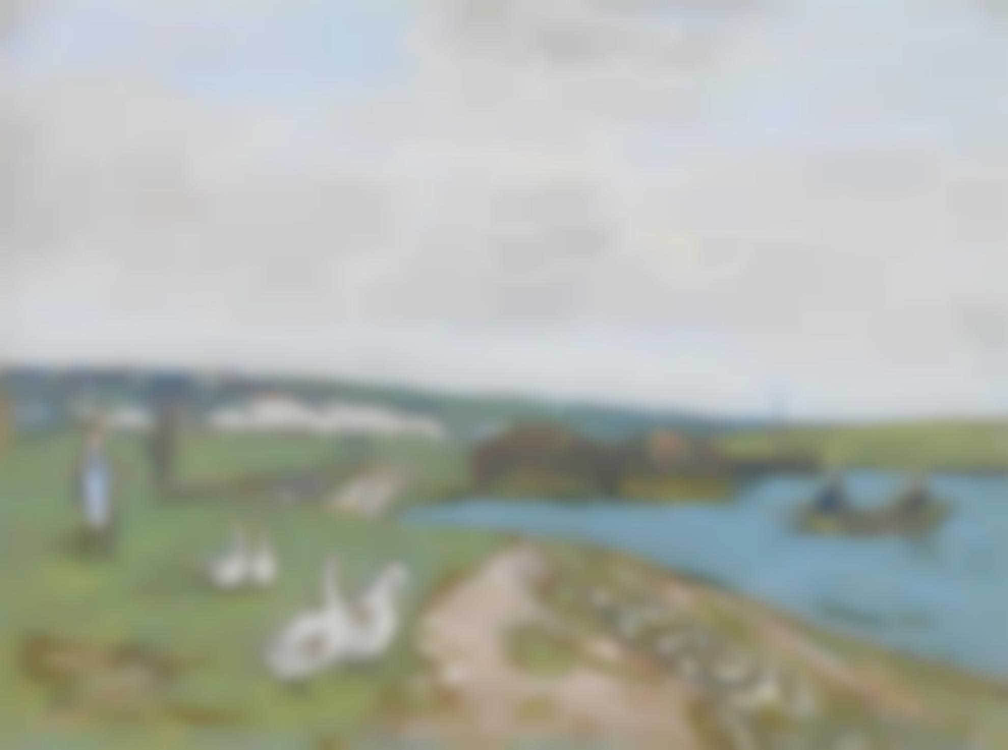 Alfred Sisley-Les Oies-1897