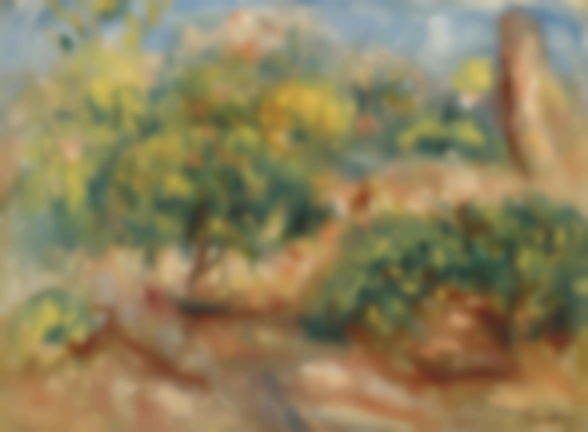 Pierre-Auguste Renoir-Esquisse De Paysage A Cagnes-1919