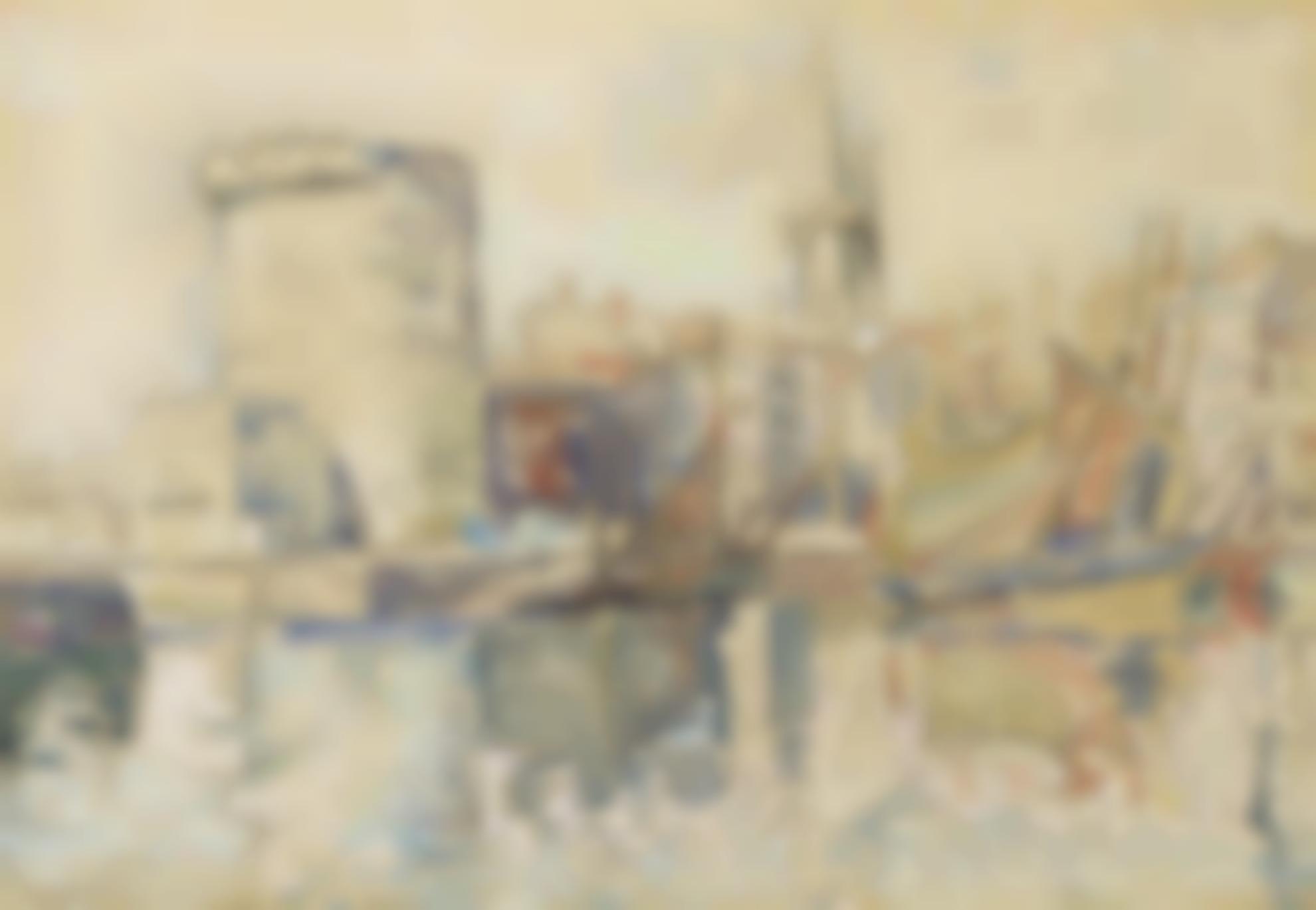 Paul Signac-La Rochelle, La Tour Des Quatre Sergents-1923