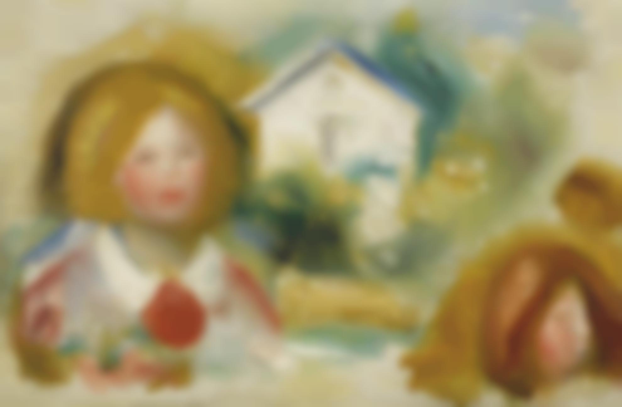 Pierre-Auguste Renoir-Etudes: Tetes Et Maisons-1907