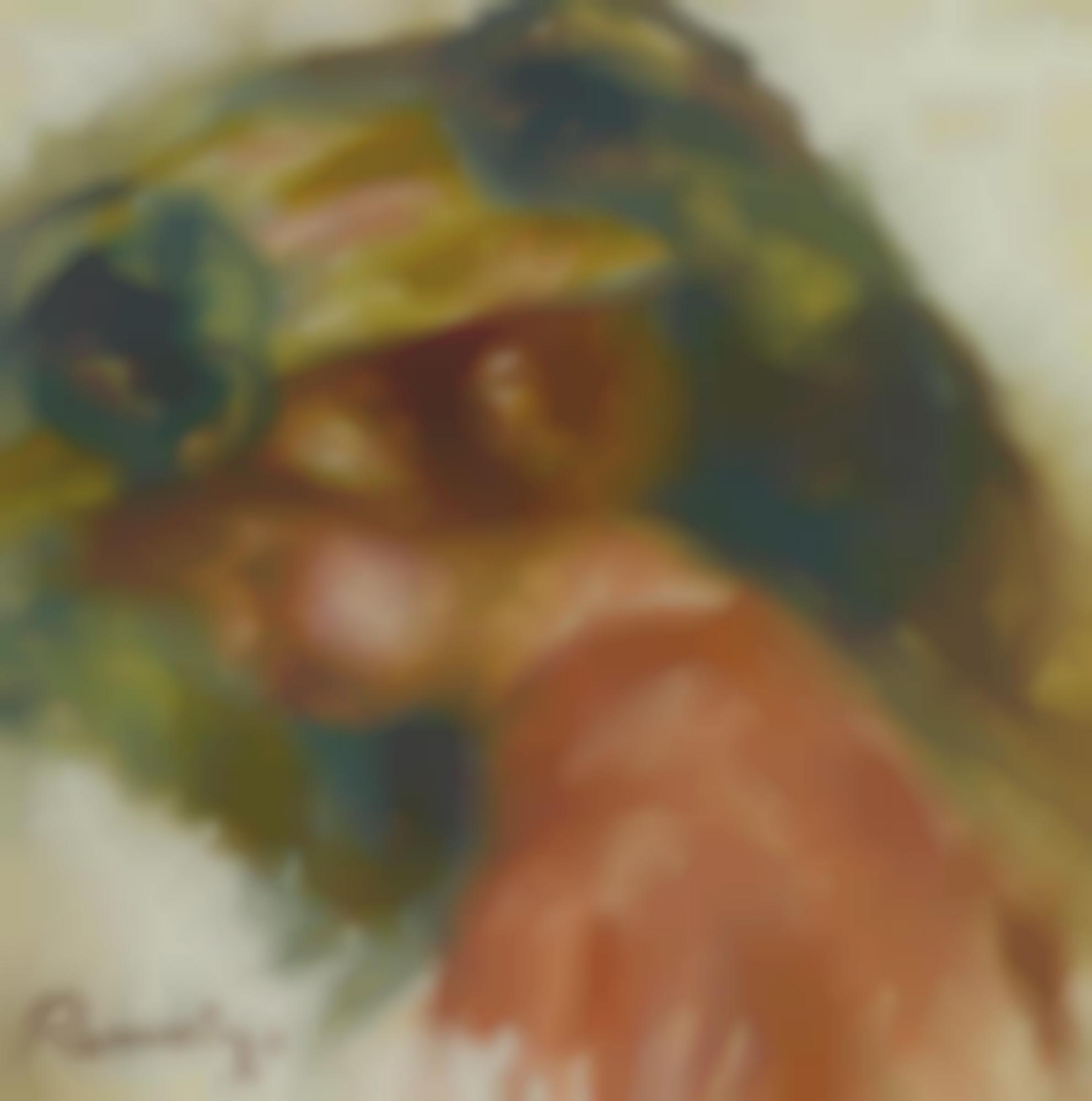 Pierre-Auguste Renoir-Femme En Chapeau-1906