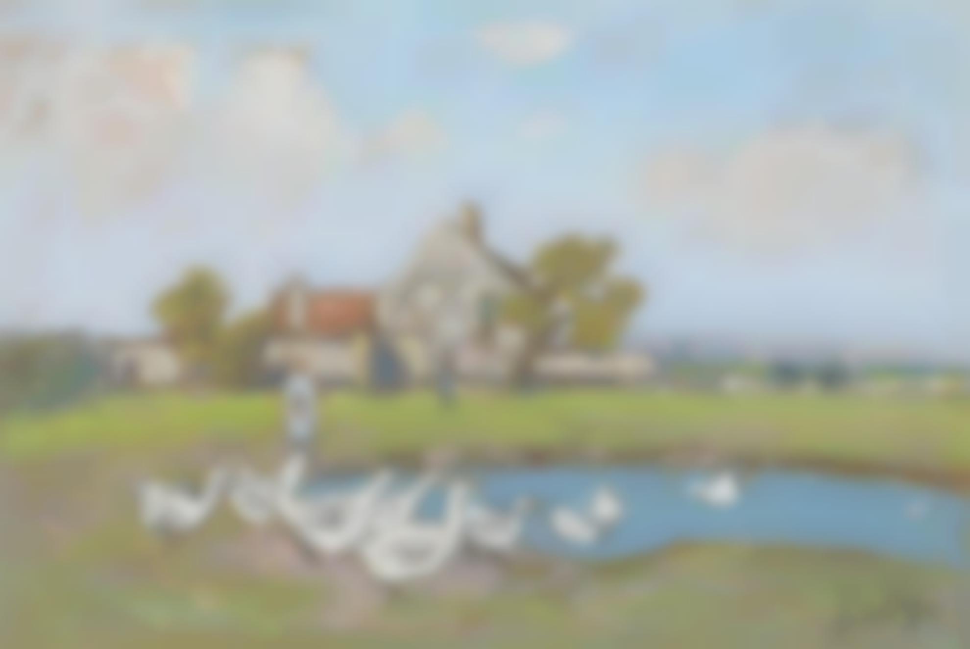Alfred Sisley-Gardeuse Doies Aux Sablons-1895