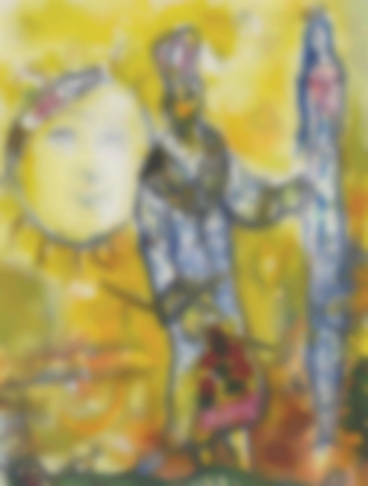Marc Chagall-Autour De La Flute Enchantee-1965
