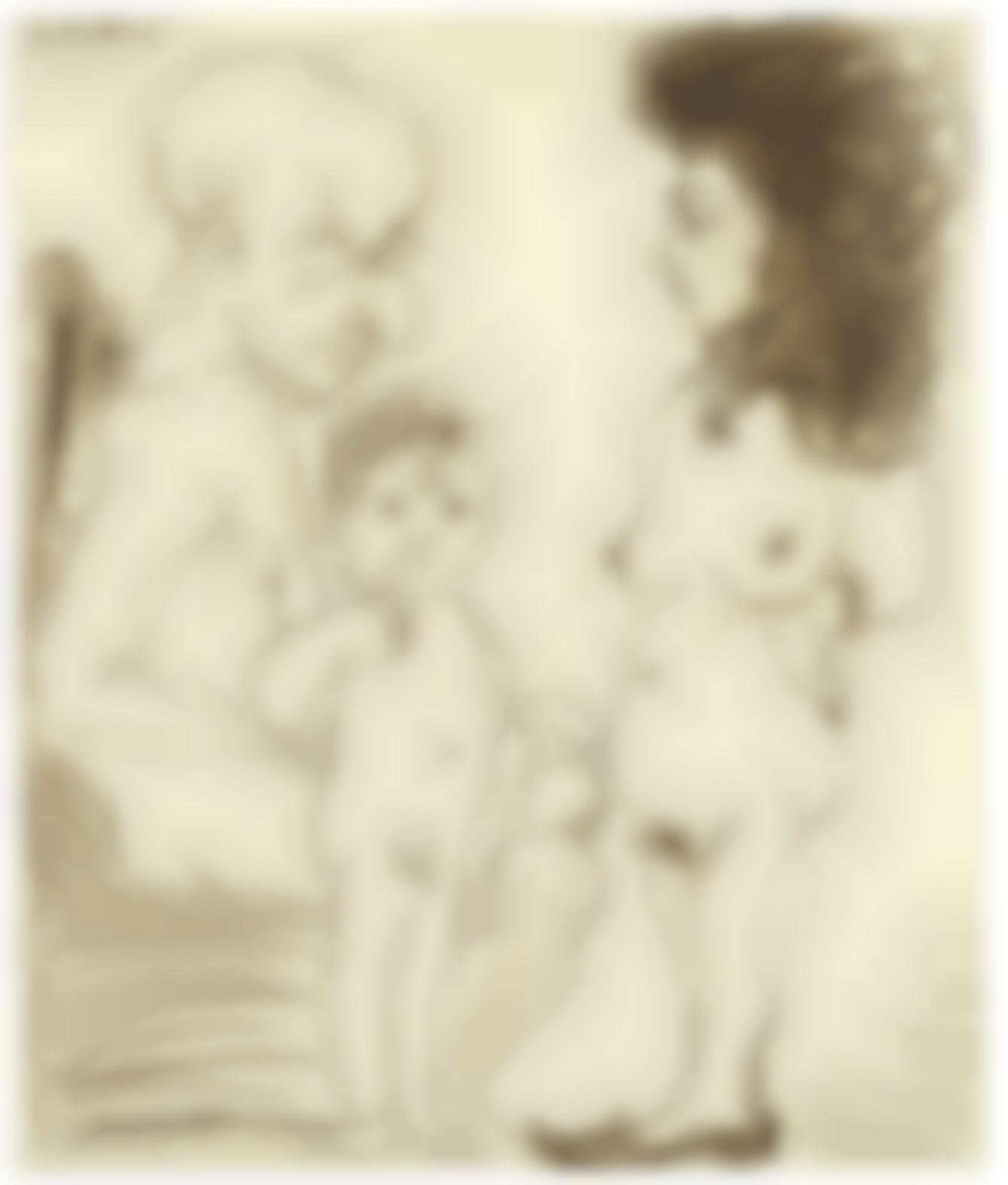 Pablo Picasso-Homme, Femme Et Enfant-1966