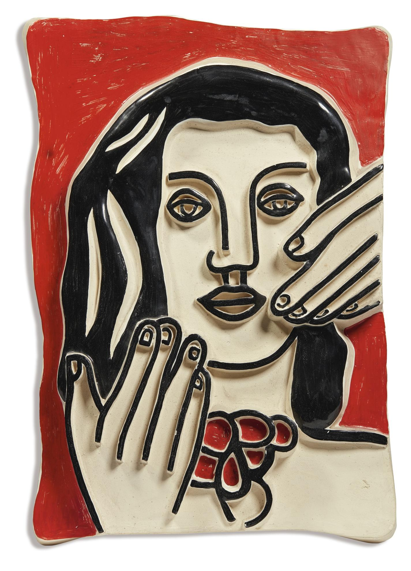 After Fernand Leger - La Tete Aux Deux Mains-1953