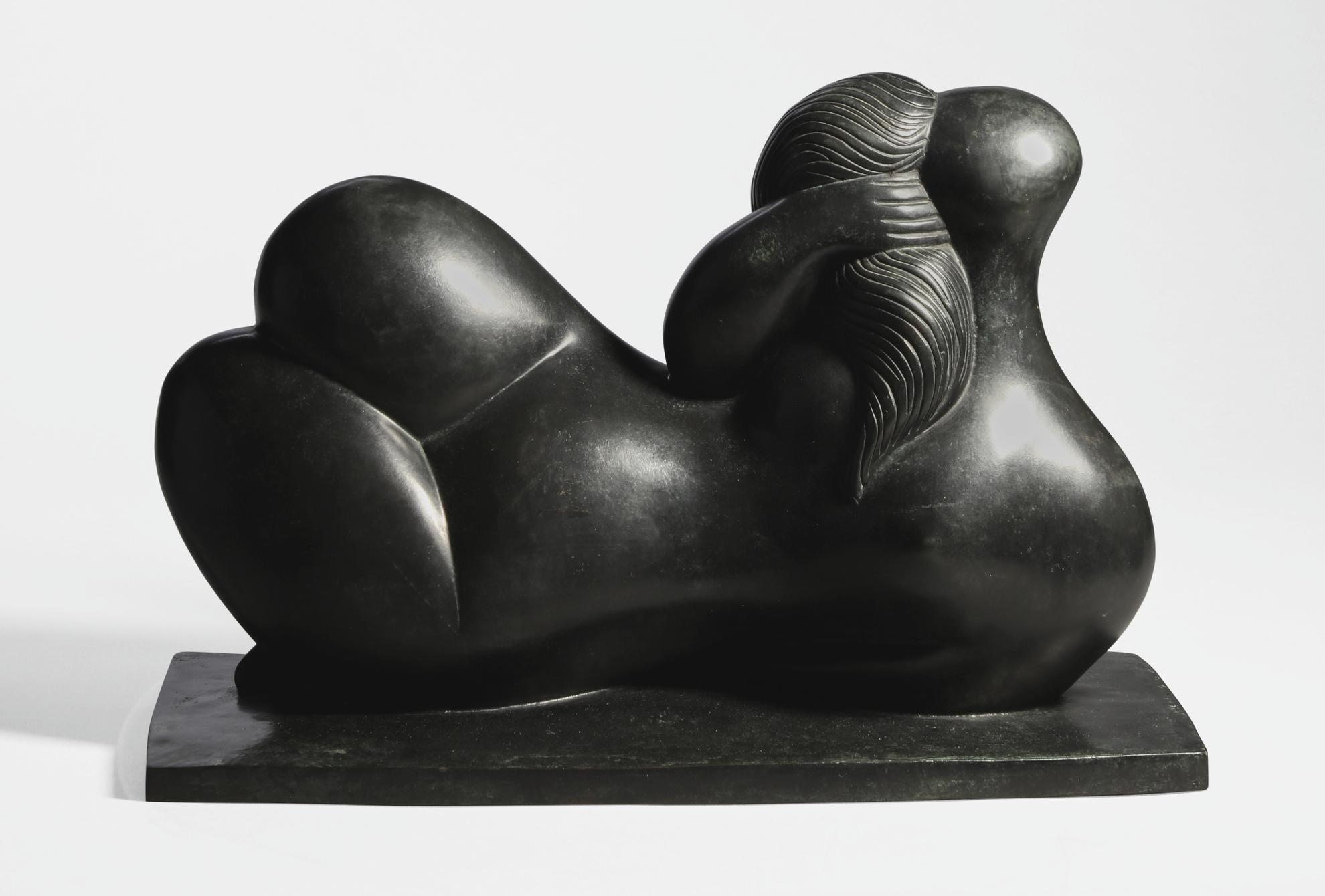Baltasar Lobo-Femme A La Chevelure Tressee-1986
