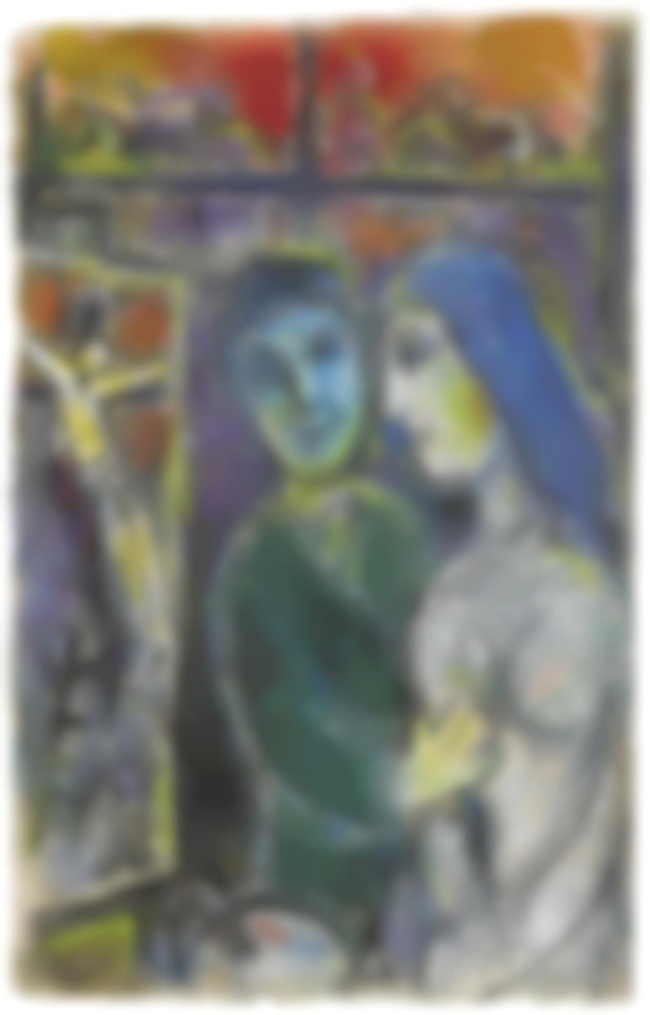 Marc Chagall-Le Peintre Et La Crucifixion-1968