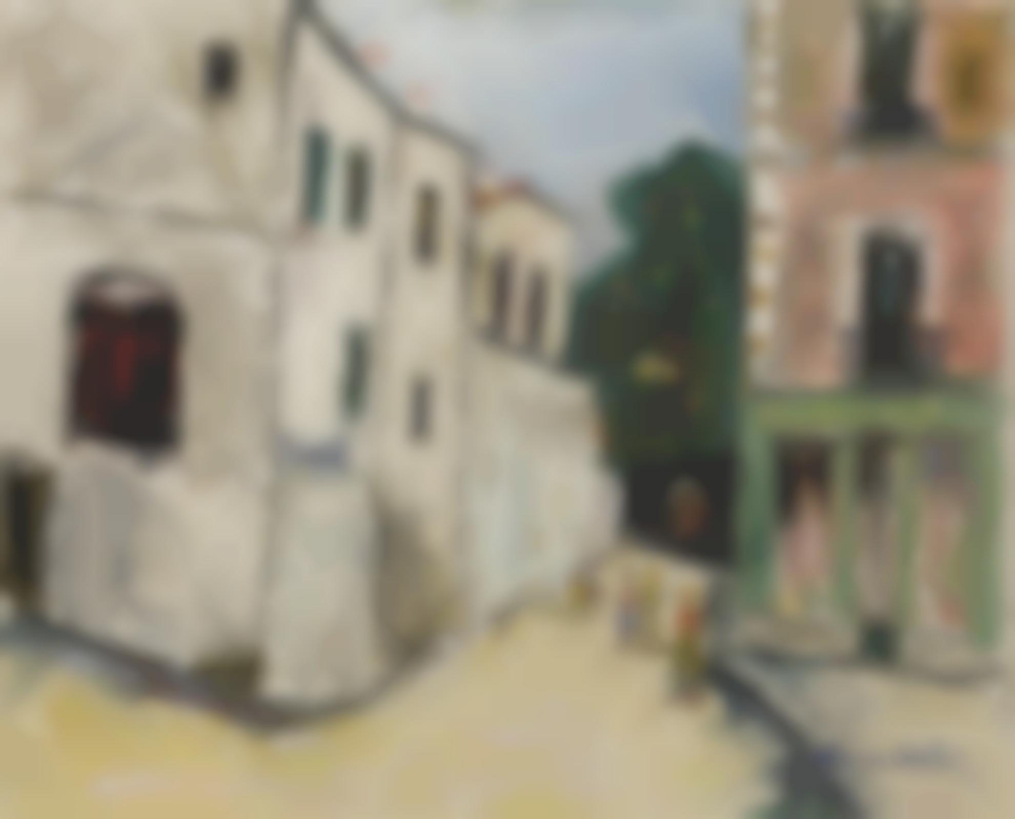 Maurice Utrillo-La Belle Gabrielle Et La Rue St. Vincent-