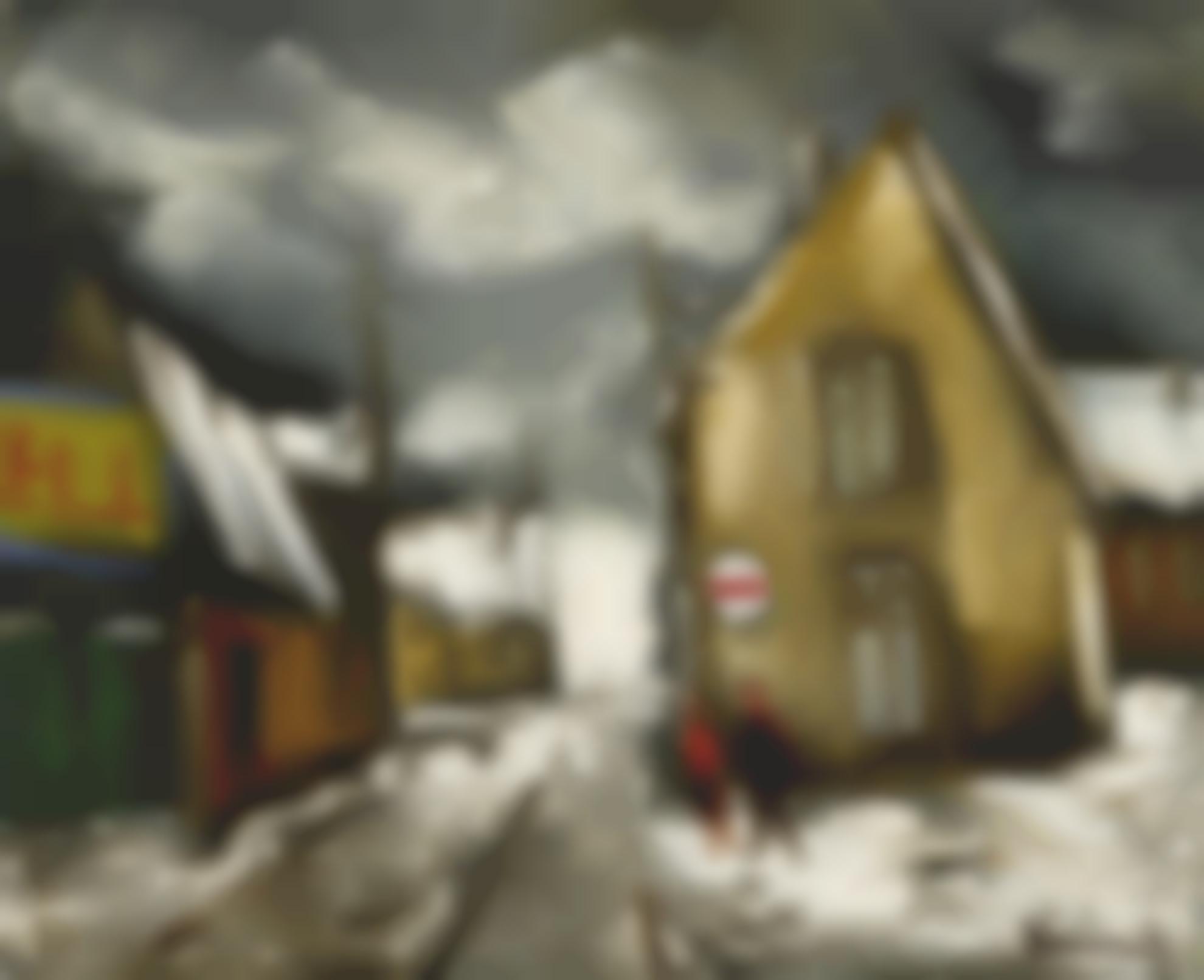 Maurice de Vlaminck-Village Sous La Neige-