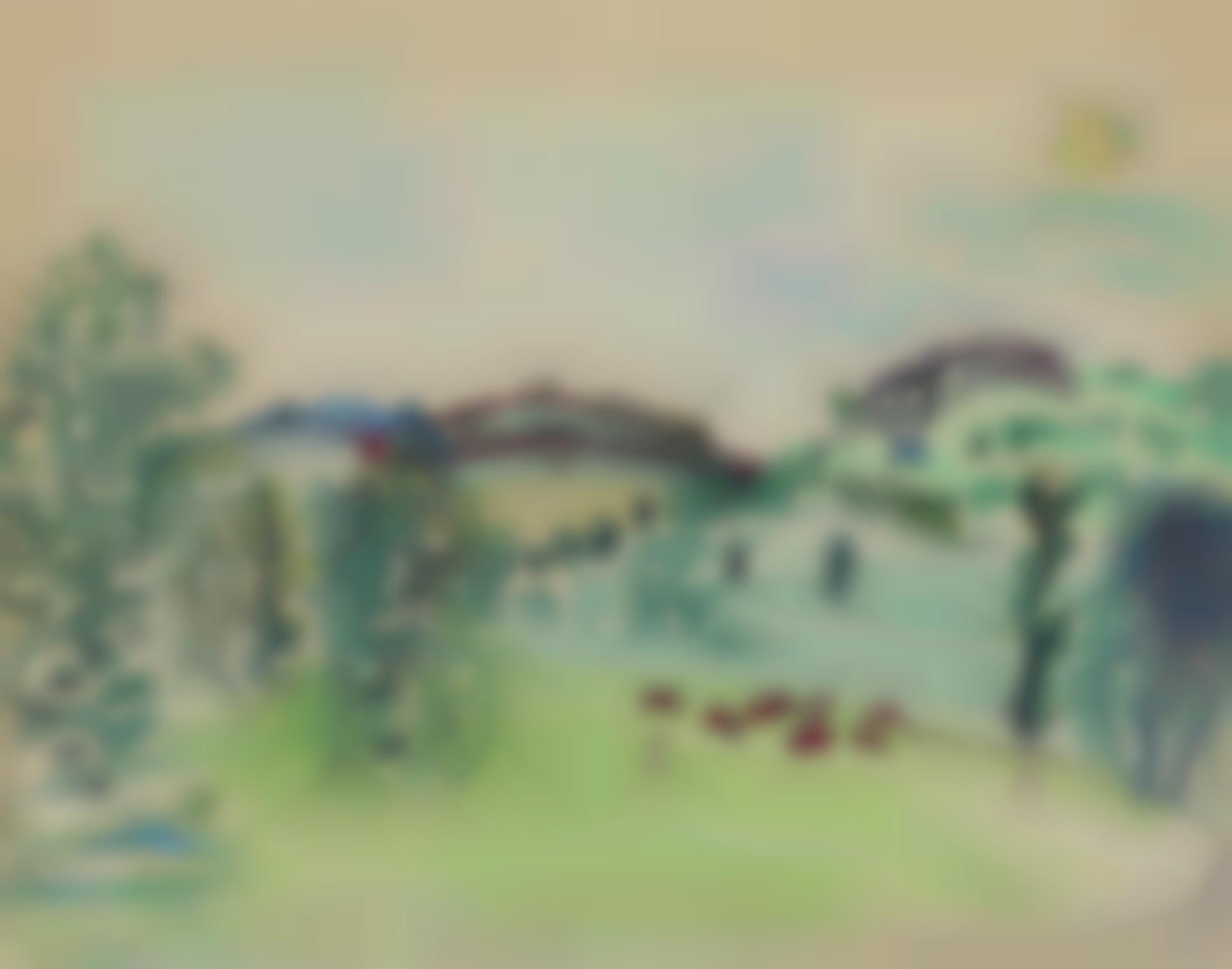 Raoul Dufy-Paysage Dauvergne, La Bourboule-1929