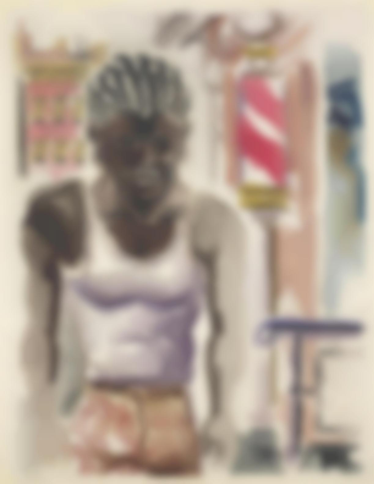 George Grosz-Black Man, New York-1933