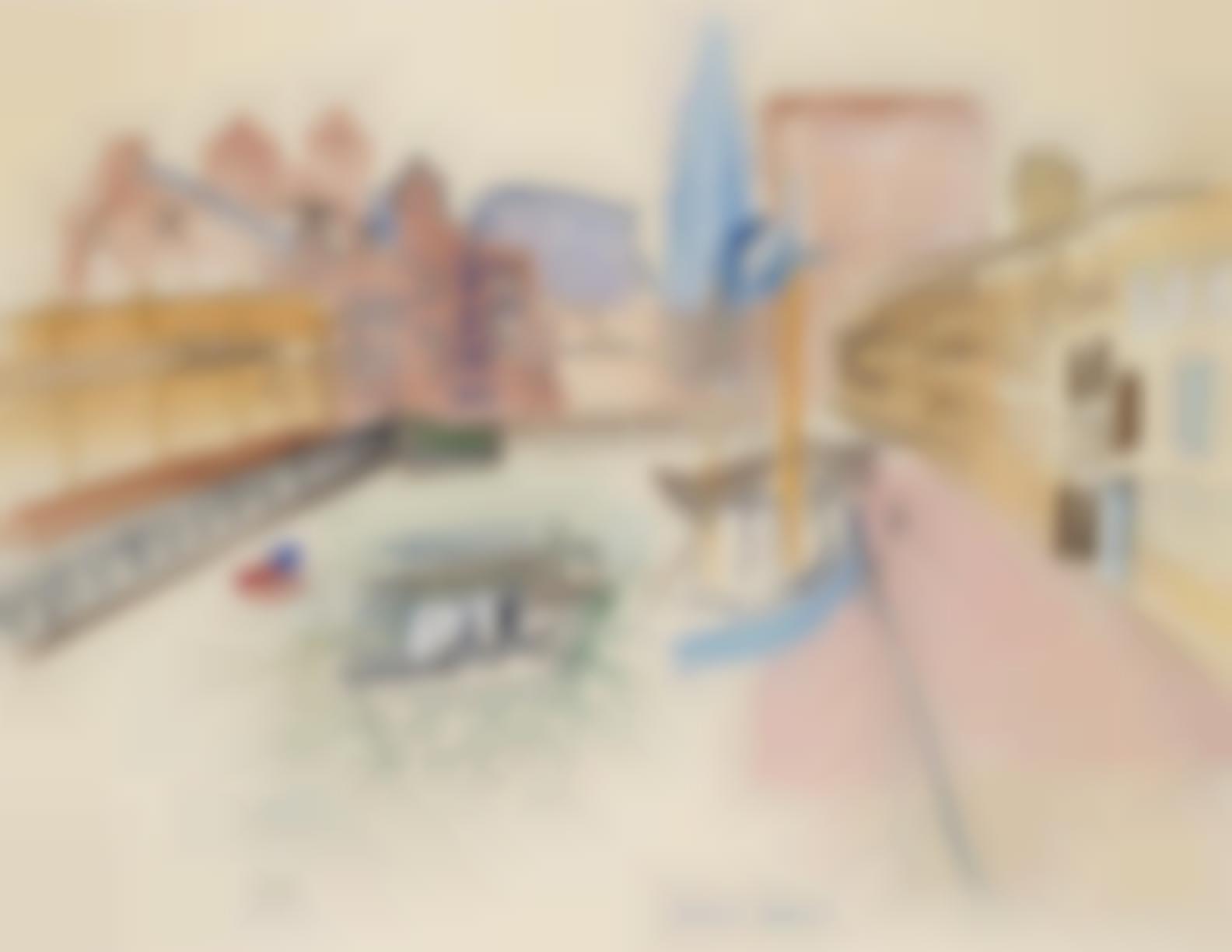 Raoul Dufy-Boston Docks-1950