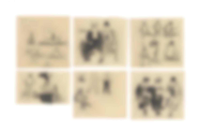 Alexander Calder-Untitled (Six Drawings)-1924