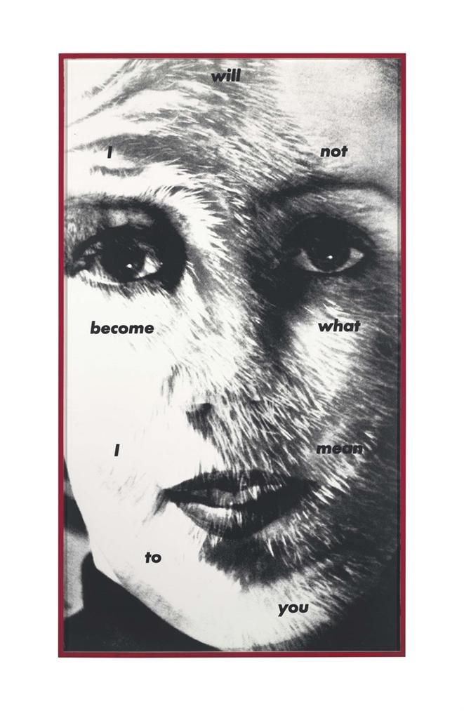 Barbara Kruger-Untitled (I Will Not Become What I Mean To You)-1983
