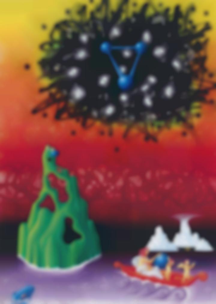 Kenny Scharf-Message From Molecular Messiah-1983