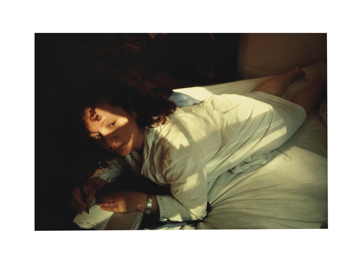 Nan Goldin-Self-Portrait Writing In Diary, Boston-1989