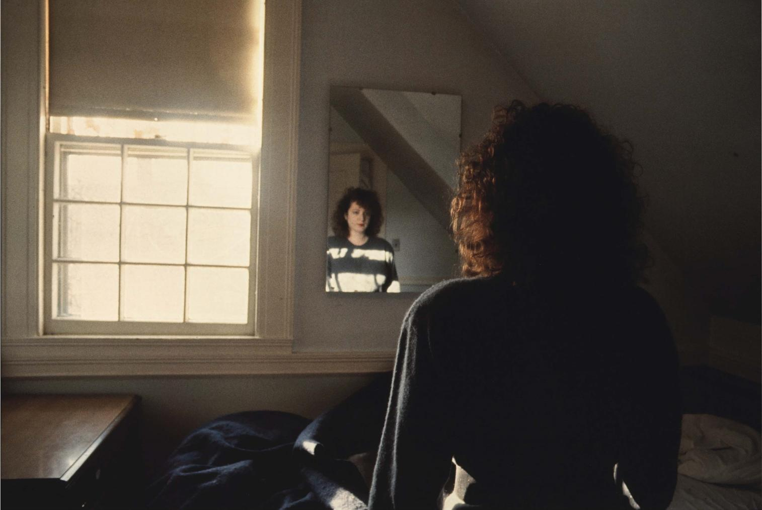 Nan Goldin-Self-Portrait In The Mirror, The Lodge, Belmont, Ma-1988