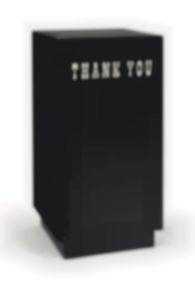 Kaz Oshiro-Trash Bin #18 (Black)-2011