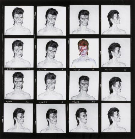 Brian Duffy-David Bowie, Aladdin Sane, Contact Sheet, 1973-1973