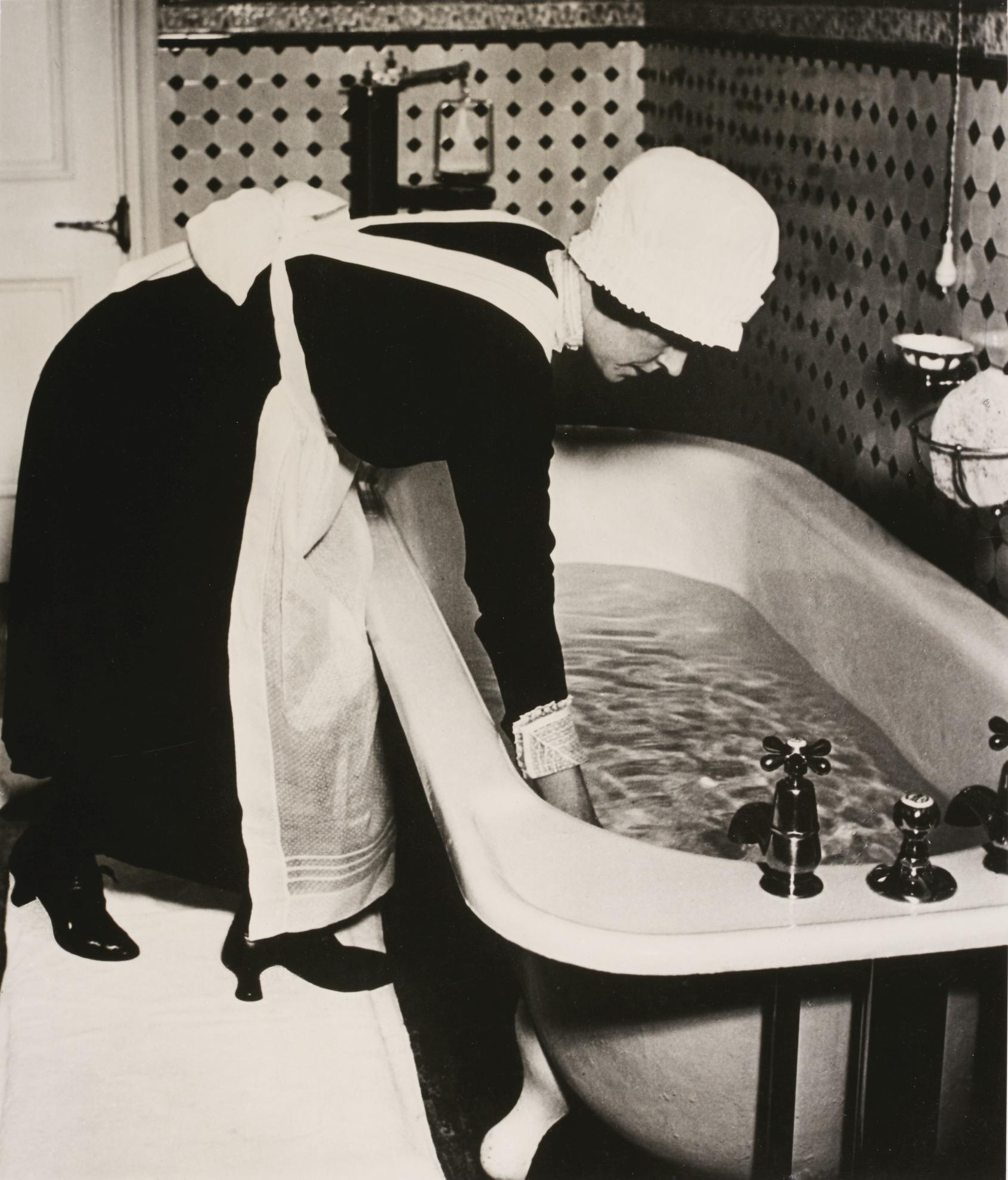 Bill Brandt-Parlourmaid Preparing A Bath Before Dinner, 1935-1935