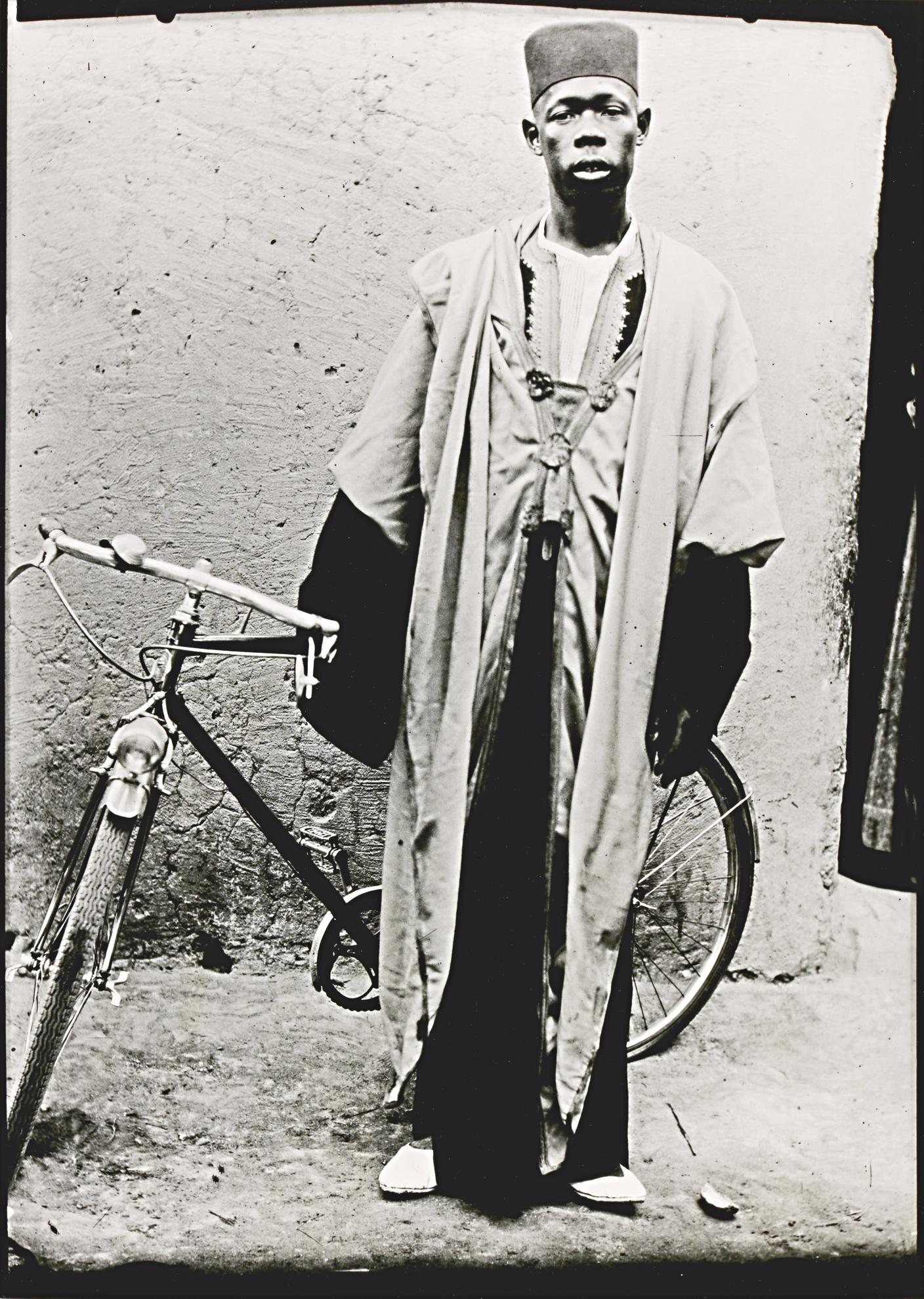 Seydou Keita-Untitled (Man With Bicycle), C. 1952-55-1955