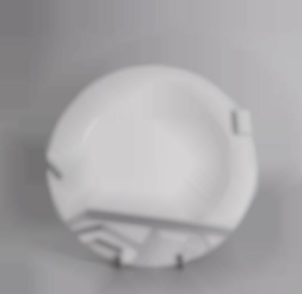Ettore Sottsass-Plate model Lettuce-1985