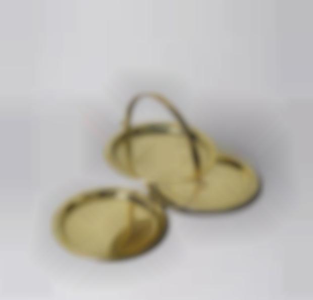 Floor cookie cup brass-