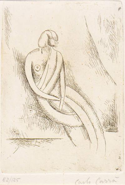 Carlo Carra-Untitled (Female Figure)-1957