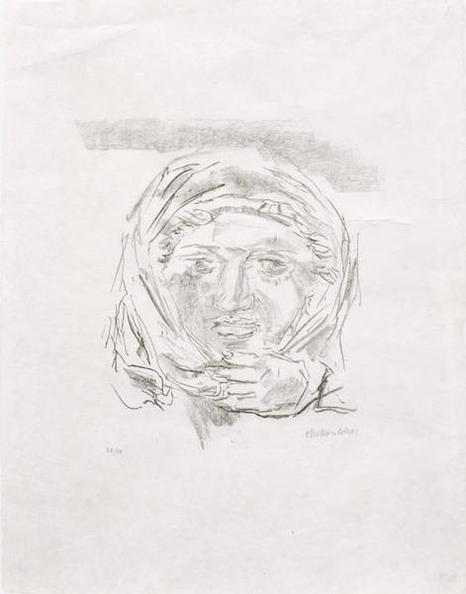 Oskar Kokoschka-Portrait of a woman-