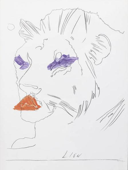 Andy Warhol-The Lion-1975