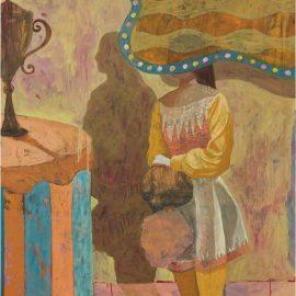 Derek Fordjour-Untitled (Girl With Trophy)-2015