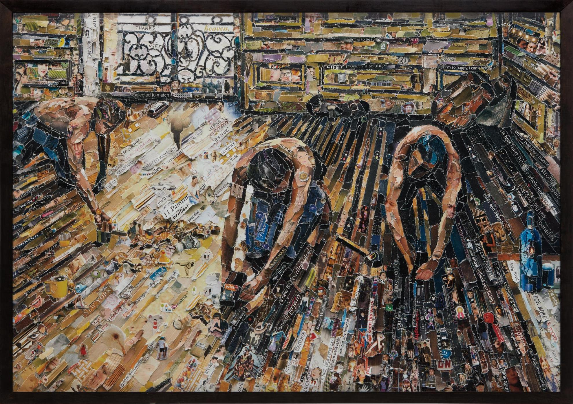 Vik Muniz-Floor Scrapers, After Gustave Caillebotte From Pictures Of Magazines 2-2011