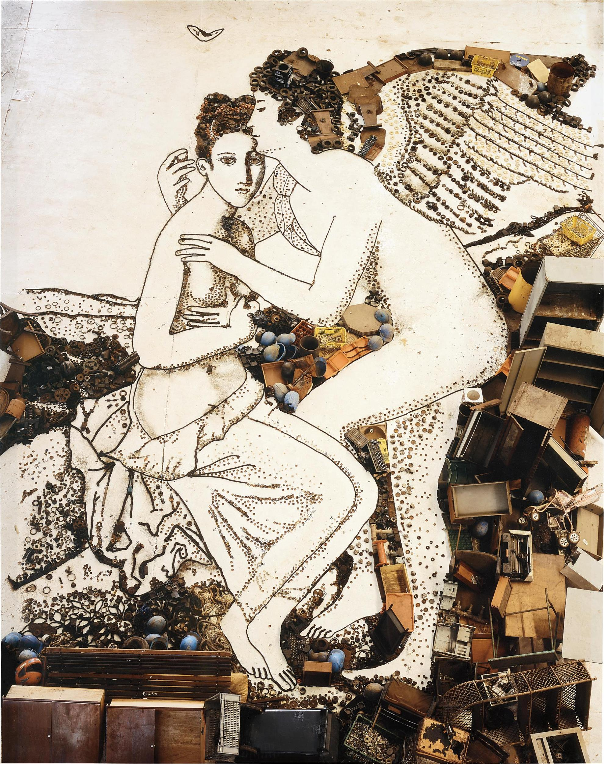 Vik Muniz-Amore And Psyche, After Francois Gerard From Pictures Of Junk-2009
