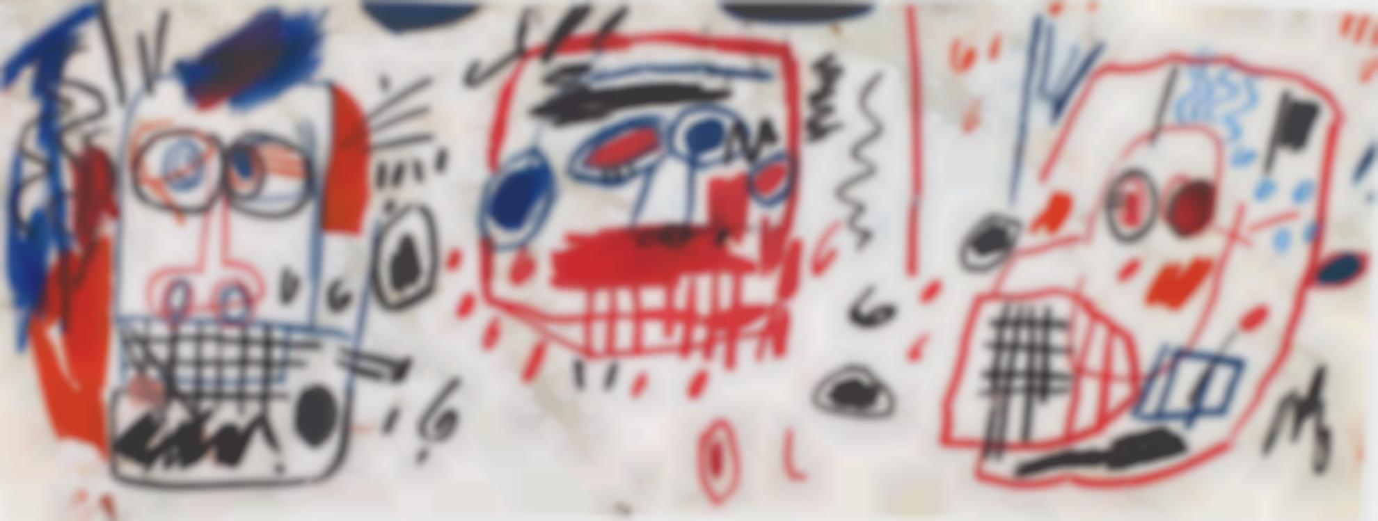 Jean-Michel Basquiat-Untitled (Three Heads)-1982