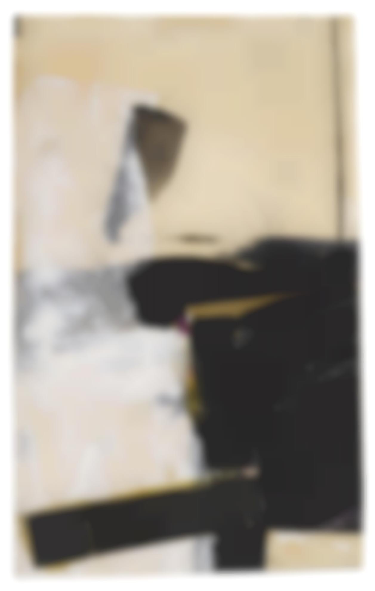 Franz Kline-Black And White Collage (Study For Accent Aigu)-1957