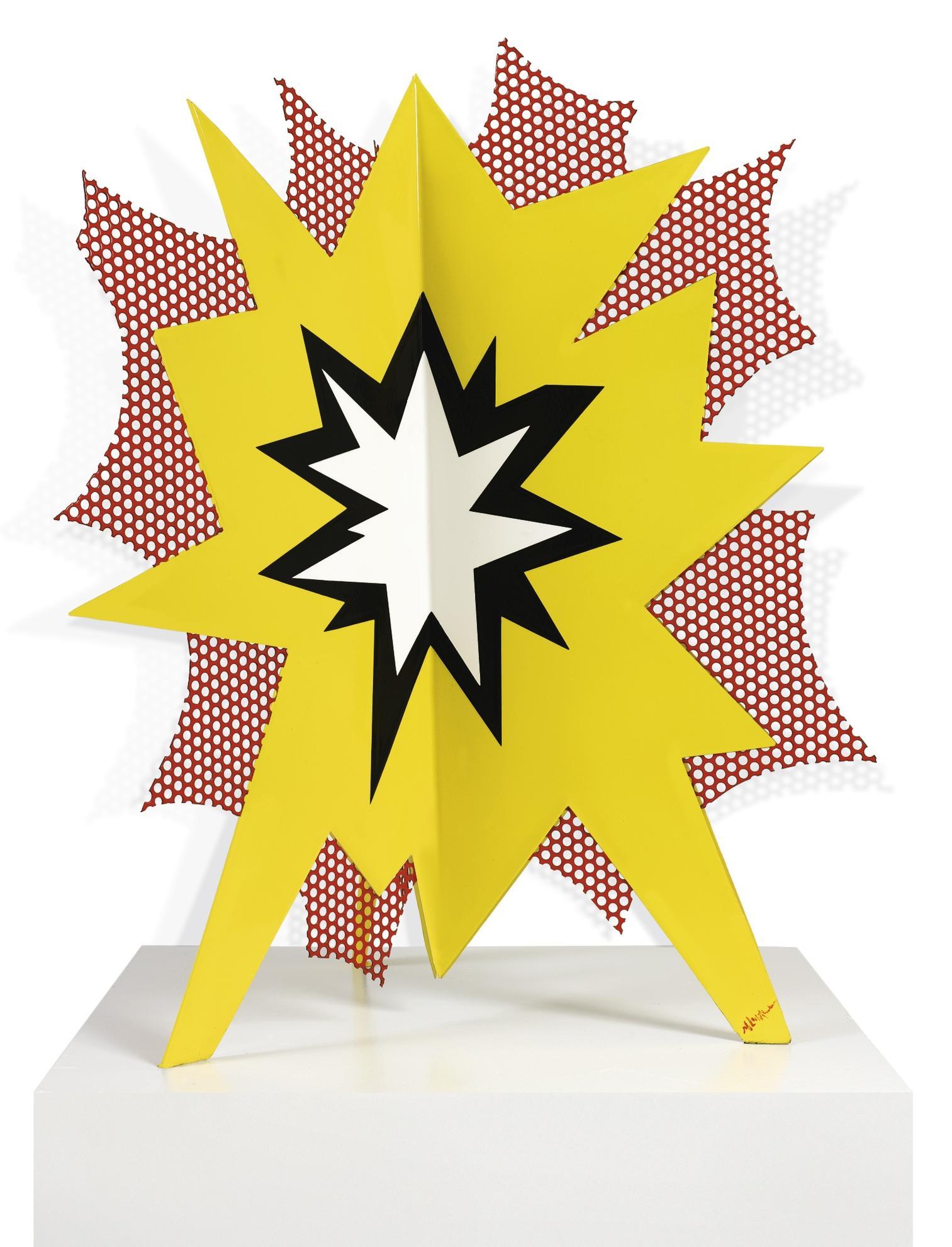 Roy Lichtenstein-Standing Explosion #3 (Yellow)-1965