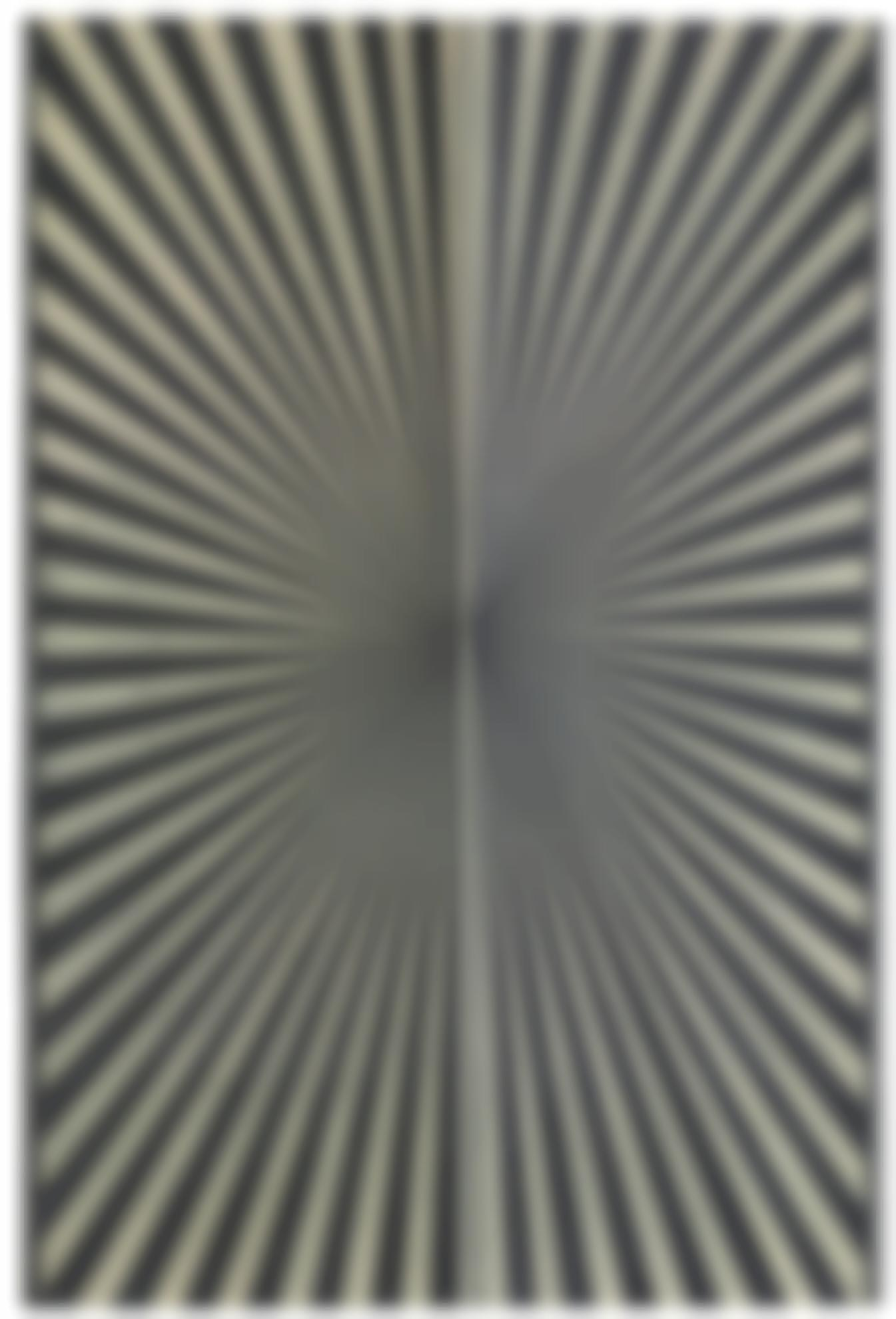 Mark Grotjahn-Untitled Butterfly (Black + Cream-Cicle)-2007